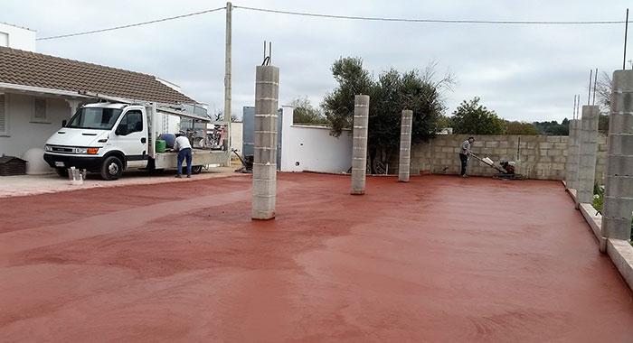 Pavimenti industriali con finitura a spolvero new edil pavi - Pavimento per garage ...